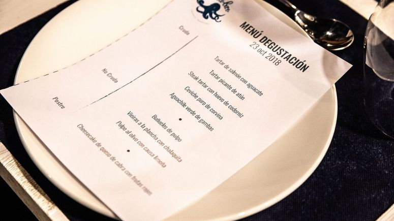 menu degustacion crudo bar